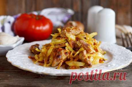 Солянка из капусты с мясом свинины рецепт с фото пошагово и видео - 1000.menu