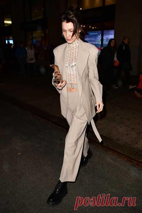 Носите деловой костюм как Белла Хадид | VestiNewsRF.Ru