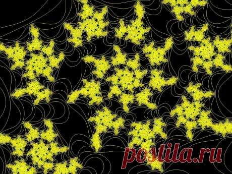 Gelb fraktale Spitze  Kostenloses Stock Bild HD - Public Domain Pictures