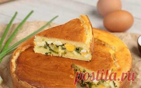 Пирог с яйцами и луком!