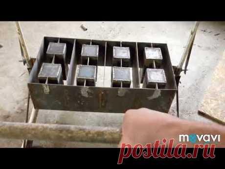 Шлакоблочный станок своими руками на 4 блока