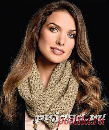 Вязание шарфа спицами ажурными узорами