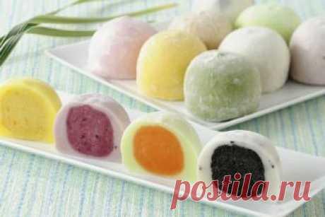 Невероятно вкусный десерт «Японские моти»