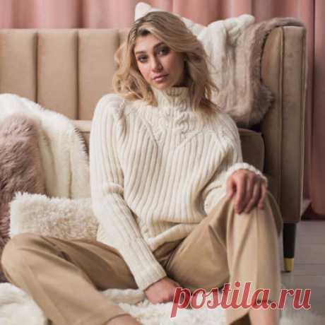 Вязание свитера спицами ALLISON JANE HIGHLAND RAGLAN