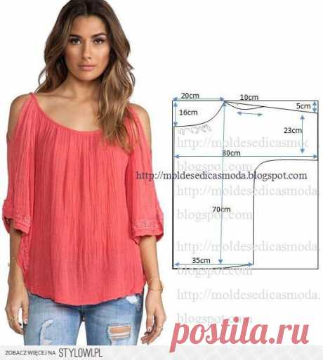 Be fashionable! simple blouse. Fashionable clothes