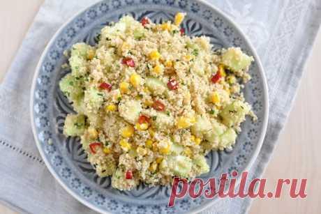 Самый быстрый постый ужин – салат игарнир водном блюде
