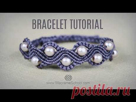 DIY Macramé Wave Bracelet with Beads | Tutorial