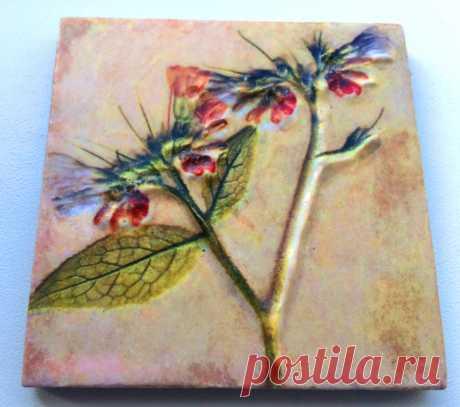 плитка керамическая гербарий, плитка керамическая цветы, плитка керамическая растения, плитка стиль прованс