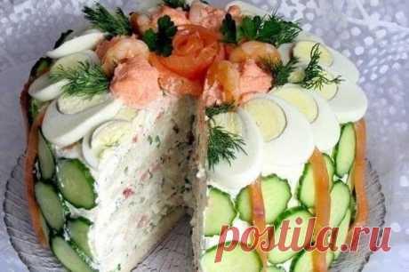 Скандинавский закусочный торт | Хитрости Жизни