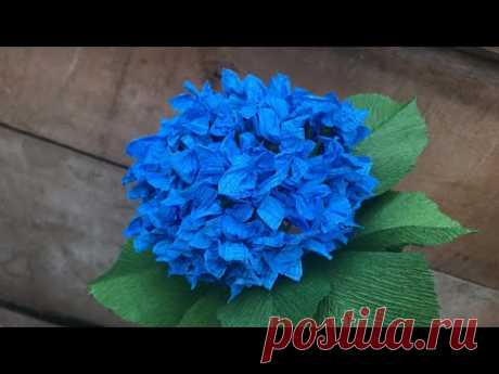 ABC TV | How To Make Easy Hydrangea Flower With Crepe Paper - Craft Tutorial