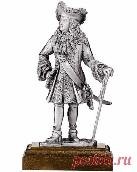 Купить оловянную статуэтку короля Людовика XIV в интернет магазине Киев | Интернет-магазин подарков Ларец