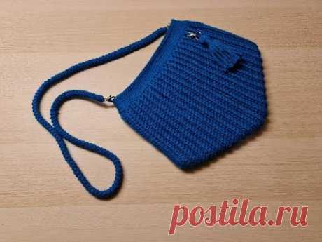 Сумка крючком подробный МК / Crochet bag