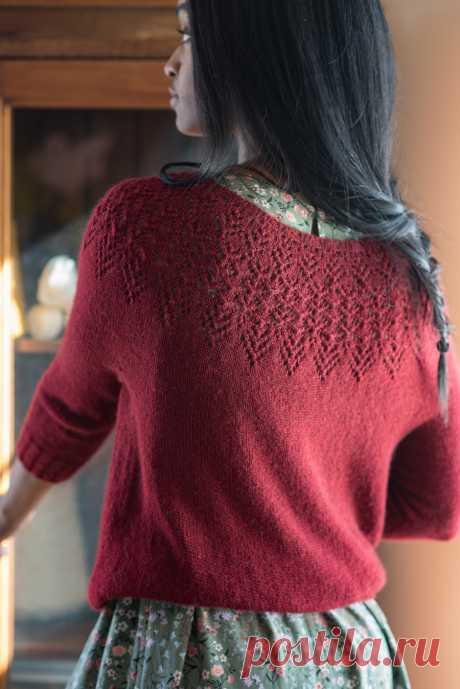 Пуловер с круглой кокеткой Meryton - Вяжи.ру