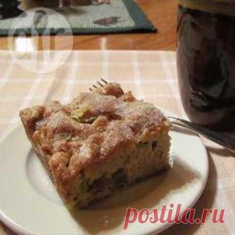 Рецепт: Простой пирог с ревенем - все рецепты России