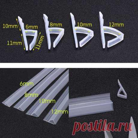 1 м 6 12 мм H F U форма стеклянная дверная изоляция силиконовый резиновый для душа ванна для дверей и окон в комнате уплотнение стекла уплотненительная лента полоски уплотнитель|Уплотнительные ленты| | АлиЭкспресс