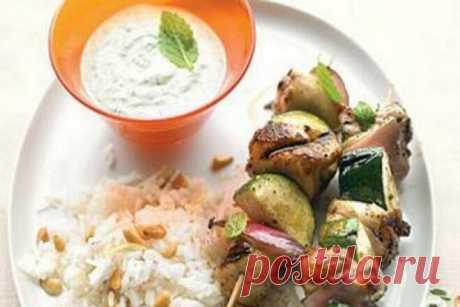 Куриный шашлык по-гречески с цуккини, рецепт с фото — Вкусо.ру