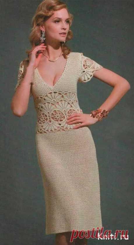 Элегантное летнее платье крючком...