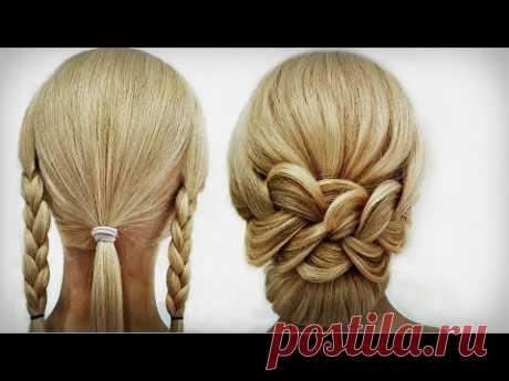 10 Простых Причесок. БЕЗ всяких ЗАМОРОЧЕК.10 Simple Hairstyles. WITHOUT ANY PROBLEMS.