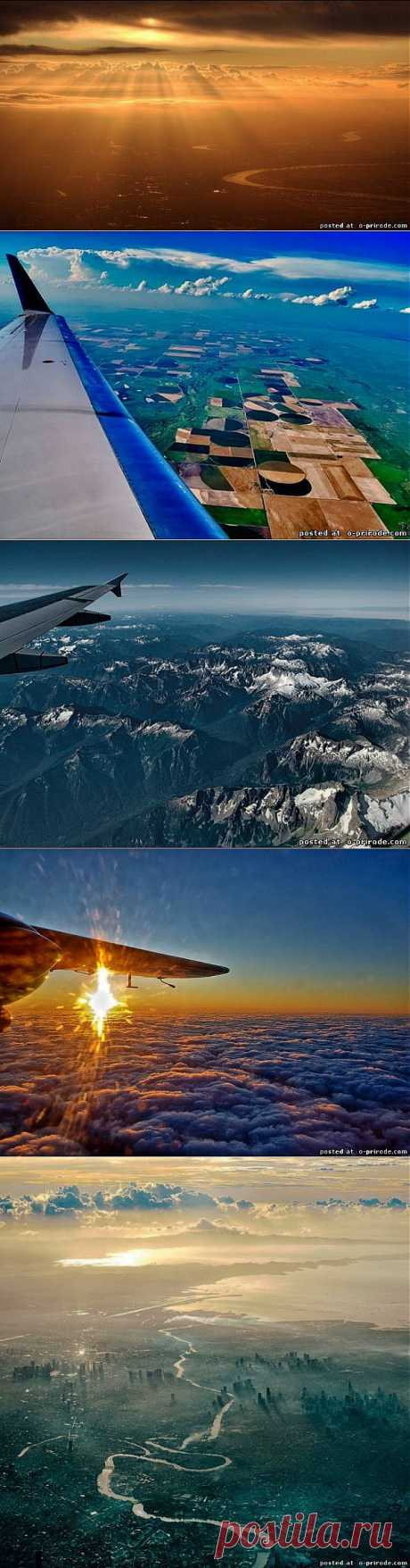 Красивые снимки из иллюминатора самолета – 30 фото - Фото мир природы
