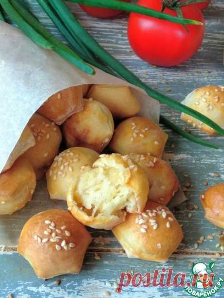 """Чесночные булочки с сыром """"Мини"""" – кулинарный рецепт"""