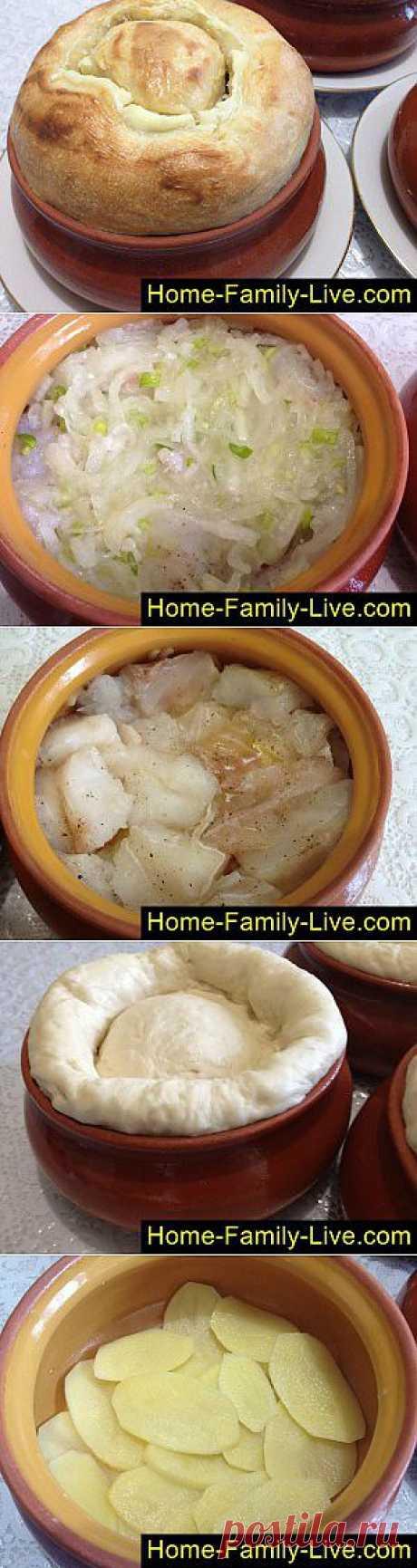 Кулинарные рецепты Рыба в горшочке - пошаговый фоторецепт - рыба тушеная с картошкой в г