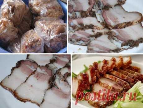 САЛО в пакетах САЛО в пакетах - Ну Очень ВКУСНО! Ингредиенты: свиная грудинка-1.5кг. чеснок-1-2головки. чёрный перец крупного помола приправа для свинины соль \ Как