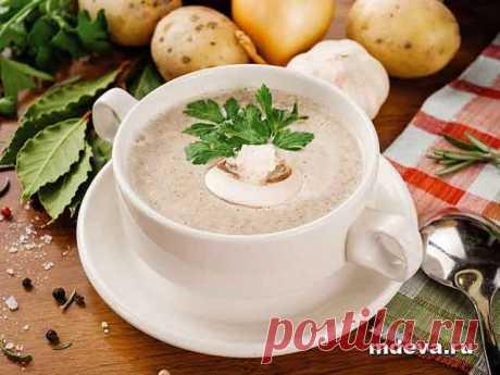 Сливочный грибной крем-суп Сливочный грибной крем-суп Приготовление: Очистить картошку и нарезать не слишком крупно. Залить водой так, чтобы она слегка покрывала картофель, посолить и поставить вариться.