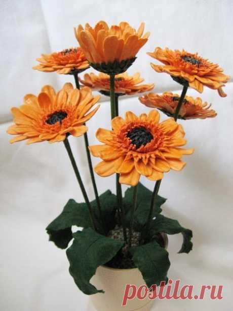 Цветы холодного фарфора