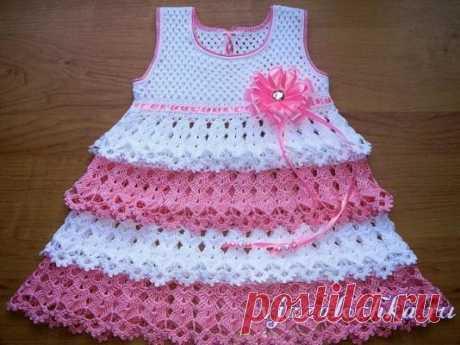 Платье для девочки крючком от Кузнецовой Юлии