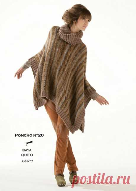 Ravelry: CB13 Poncho n°20 pattern by Cheval Blanc Official