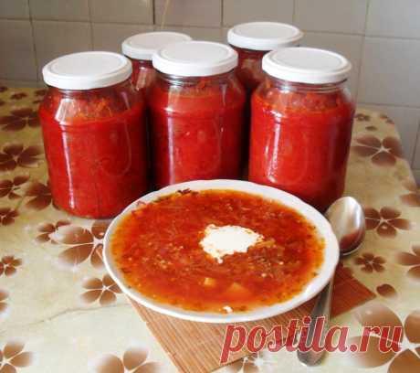 10 заправок для супа и борща на зиму