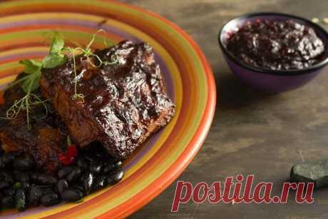 Свиные ребрышки в духовке с соусом барбекю – пошаговый рецепт с фото.