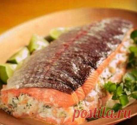 El salmón rellenado