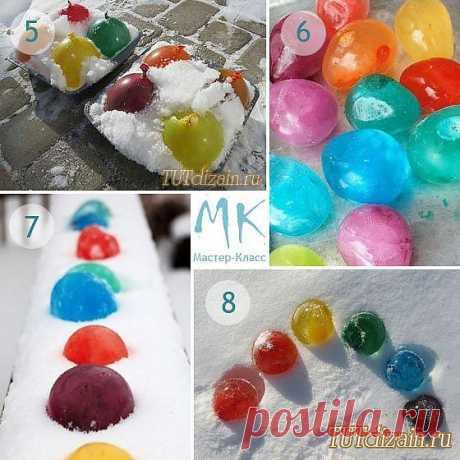 Цветные ледяные шарики