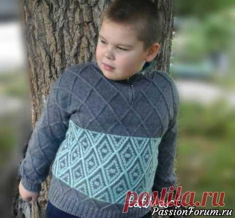 Модель свитера для мальчика. Спицы. | Вязание спицами для детей