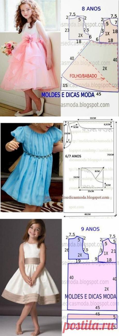 Платья для девочек — выкройки (Шитье и крой) | Журнал Вдохновение Рукодельницы