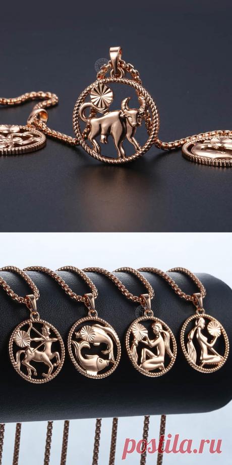 Davieslee ожерелья для женщин и мужчин 585 розовое золото заполненное 12 зодиакальное созвездие ожерелье кулон модный подарок DGPM21
