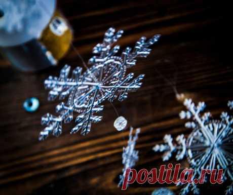 Снежинки из пластиковых контейнеров | Рекомендательная система Пульс Mail.ru