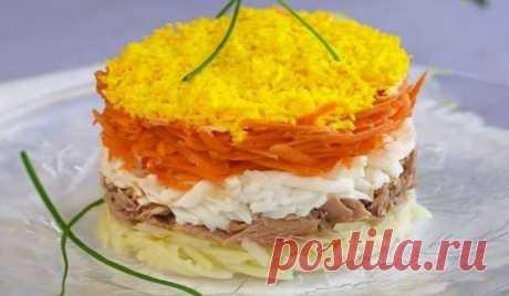 Вкусный и нежный салат «Мимоза», классический пошаговый рецепт с рыбными консервами - Женская красота