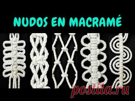 5 nuevos NUDOS en MACRAMÉ (paso a paso) | 5 New Knots in Macrame - YouTube
