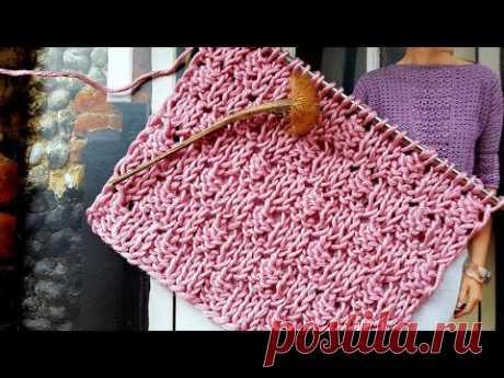 """Эффектный теневой 3D узор """"Шахматы"""" 🍓  knitting pattern."""