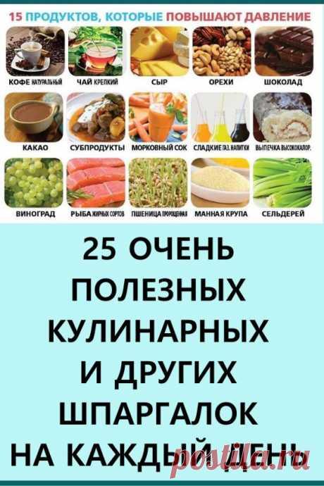 25 очень полезных кулинарных шпаргалок на каждый день для хозяек и не только! Каждая отдельно взятая шпаргалка набирала бешеное количество лайков и репостов! #кулинария #здоровье #шпаргалки #кулинарныешпаргалки