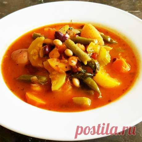 Суп Минестроне - итальянский густой суп из овощей