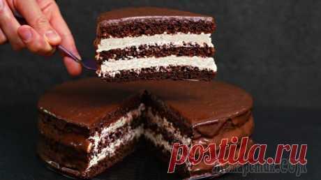 Шоколадный торт Стаканчиковый без весов! Вкуснейший домашний торт с творожно-сметанным кремом