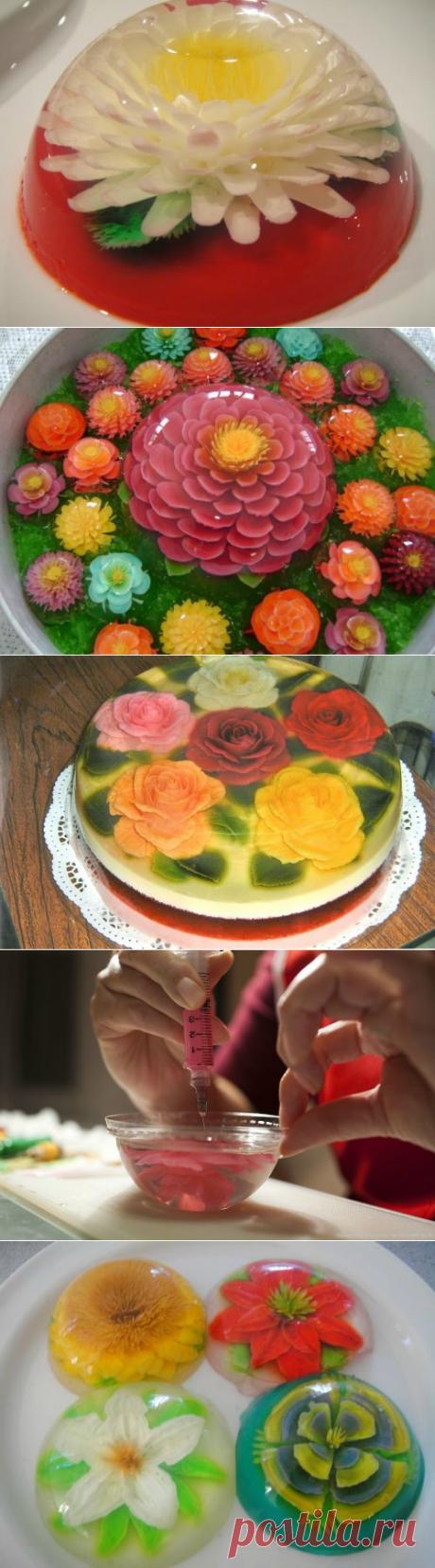 3D цветы в желе. Видео мастер-класс | Домохозяйка