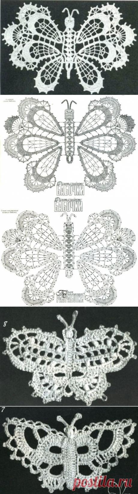 Большая коллекция бабочек крючком - САМОБРАНОЧКА рукодельницам, мастерицам