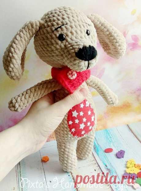 Собака Мякиш амигуруми: схема игрушки крючком | AmiguRoom