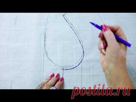 Моделирование классического женского жакета Как сделать выкройку жакета от базовой основы Часть 1 - YouTube
