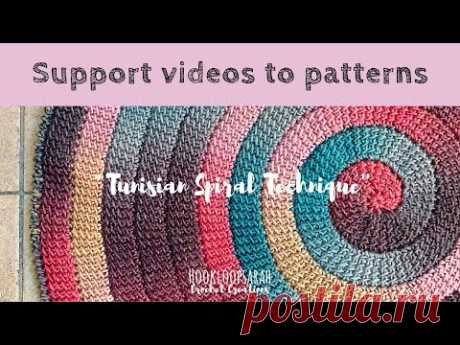 Tunisian Crochet Spiral Technique