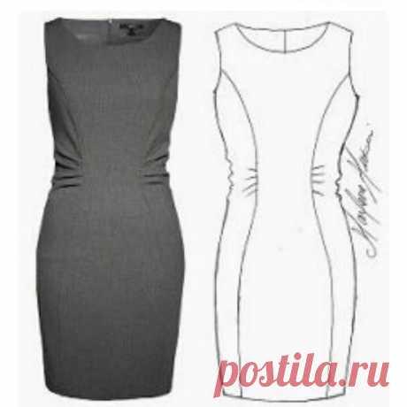 Выкройка платья футляр (Шитье и крой) — Журнал Вдохновение Рукодельницы
